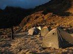 Cordillera Blanca – ráno na tábořišti